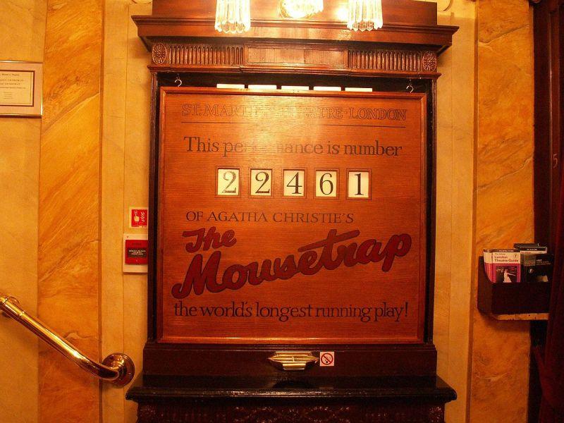 Pułapka na myszy grana po raz 22461 (St Martin's Theatre – listopad 2006) Źródło: en.wikipedia.org